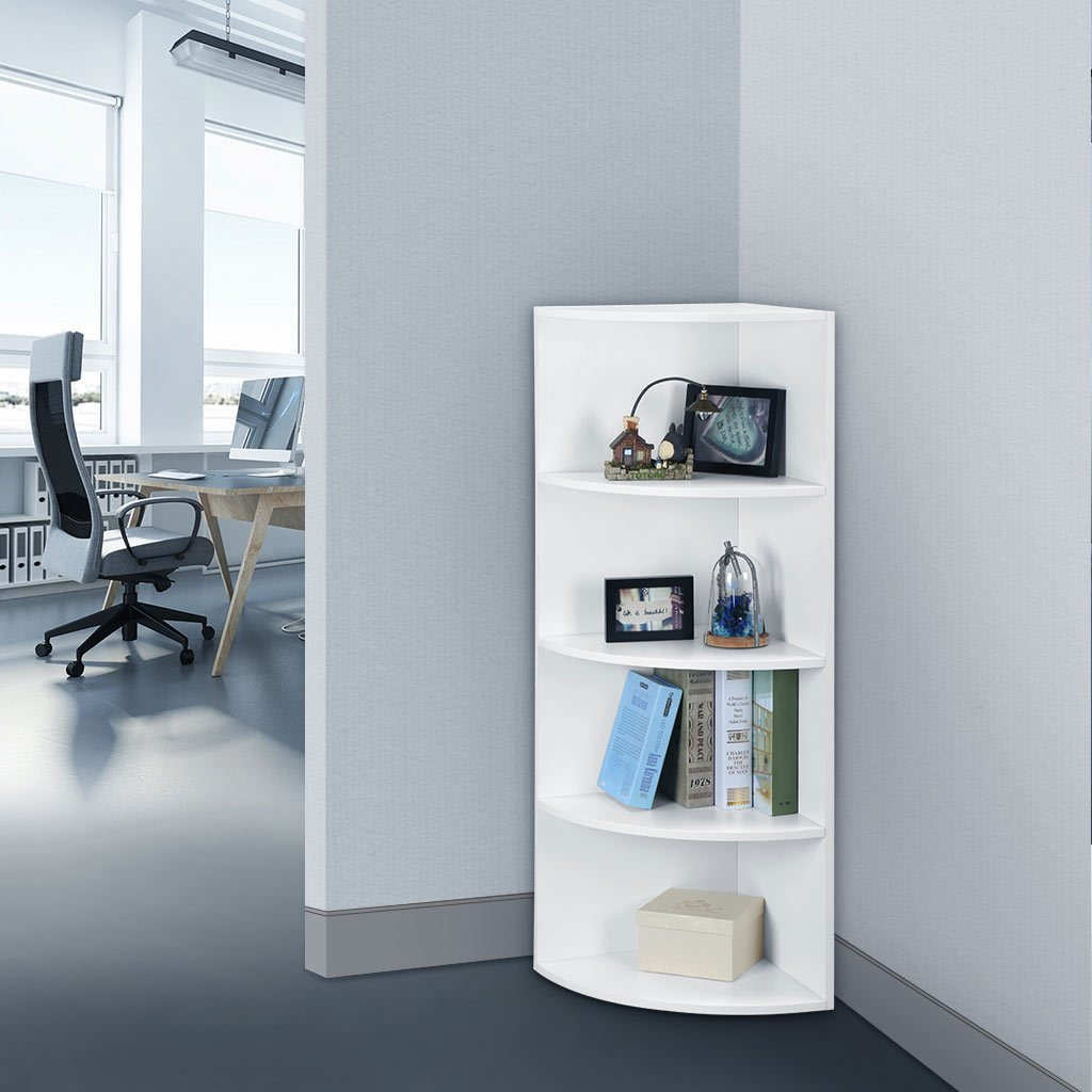 Best 5 Tier Bedroom Office Corner Shelf Bookcase Shelves Unit Cabinet Display Stand Ebay With Pictures