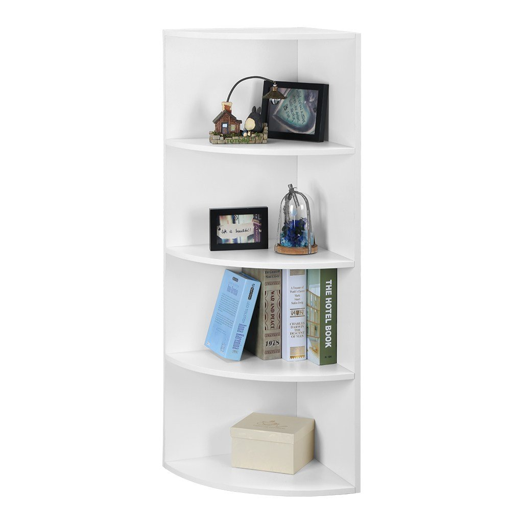 Best 5 Tier Bedroom Office Corner Shelf Bookcase Shelves Unit With Pictures