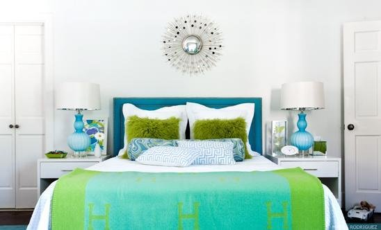 Best Turquoise Headboard Contemporary Girl S Room With Pictures