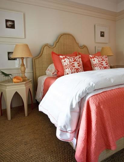 Best Coral Headboard Transitional Bedroom Jws Interiors With Pictures