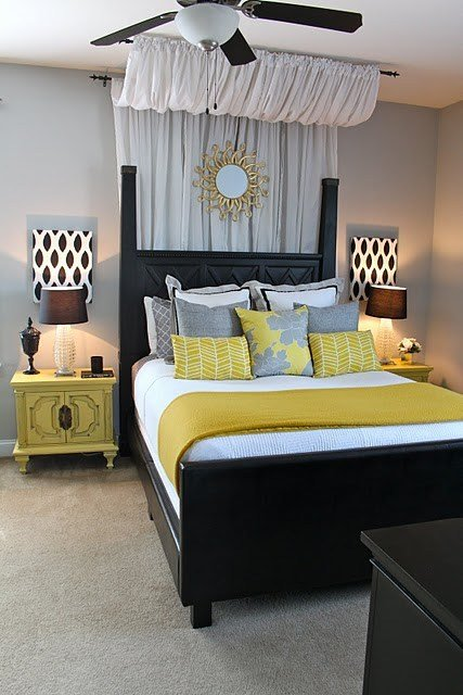 Best Yellow And Gray Bedroom Design Ideas With Pictures