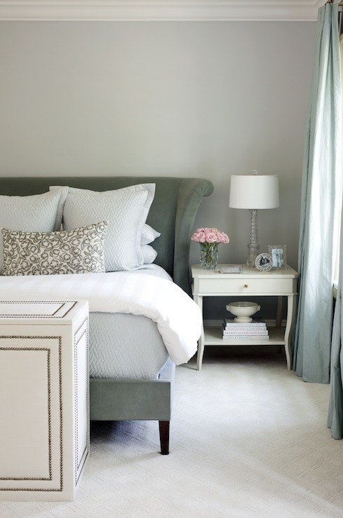 Best Light Gray Velvet Headboard Design Ideas With Pictures