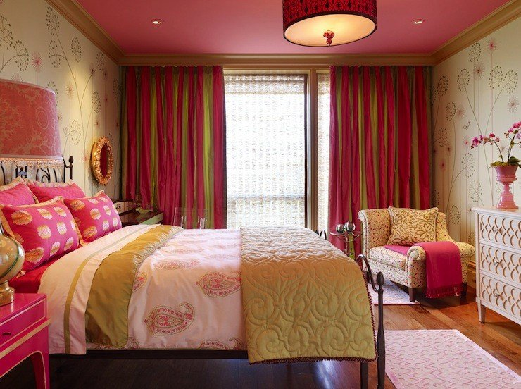 Best Pink And Green Girl S Room Traditional Girl S Room With Pictures
