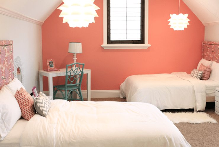 Best Coral Paint Colors Contemporary Girl S Room Benjamin With Pictures