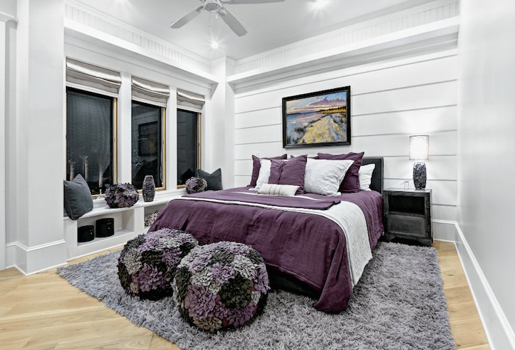 Best Purple And Gray Girl S Room Contemporary Girl S Room With Pictures