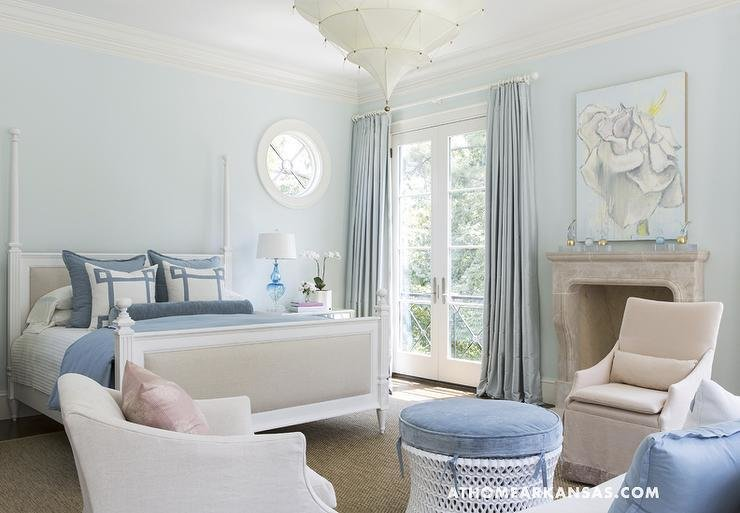 Best Blue Walls Transitional Bedroom Glidden Westerly Wind At Home In Arkansas With Pictures