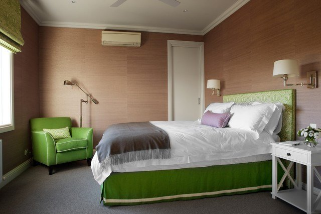 Best Green And Brown Bedroom Contemporary Bedroom Diane With Pictures
