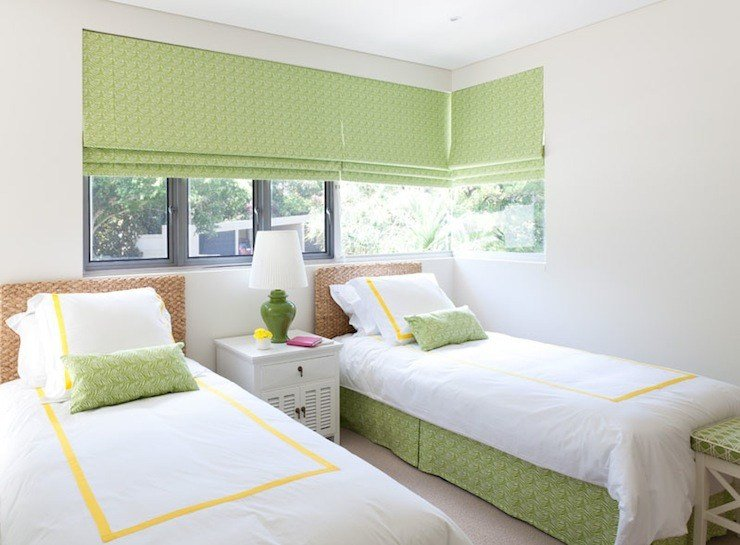 Best Green And Yellow Girls Bedroom Cottage Girl S Room With Pictures