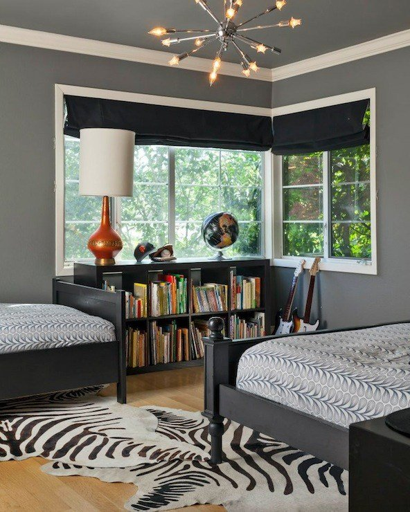 Best Charcoal Gray Walls Contemporary Boy S Room Benjamin With Pictures