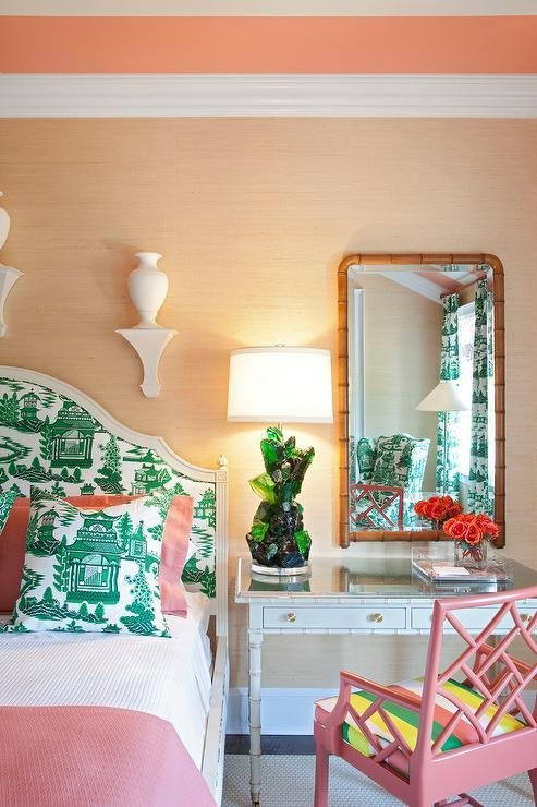 Best Pink And Green Bedroom Hollywood Regency Bedroom With Pictures