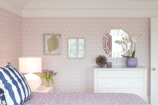 Best Trellis Wallpaper Transitional Girl S Room With Pictures