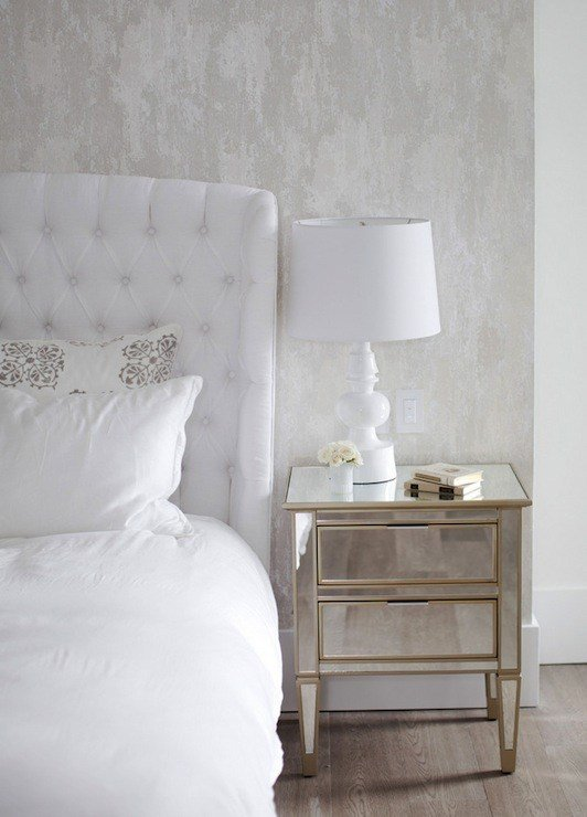 Best Mirror Nightstands Transitional Bedroom The Cross Decor Design With Pictures