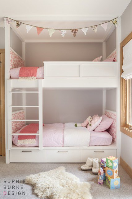 Best Lacquered Bunk Beds Contemporary Girl S Room Sophie With Pictures