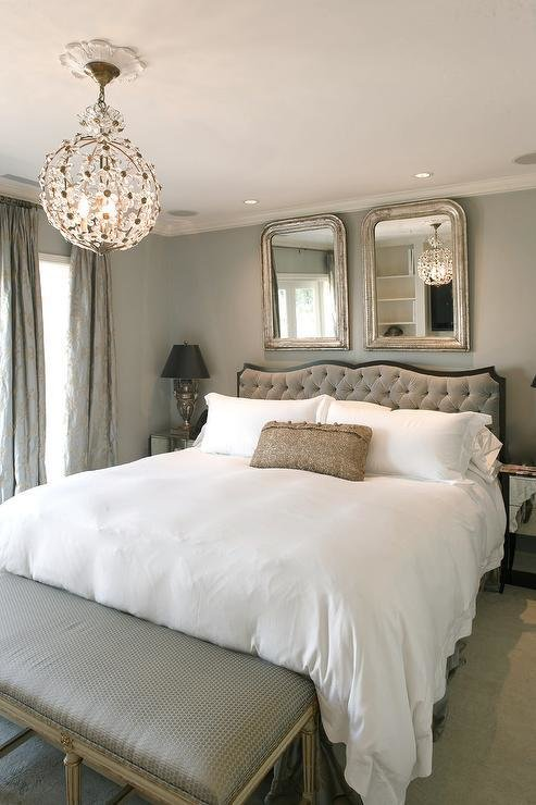 Best Staggered Mirrors Over Headboard Design Ideas With Pictures