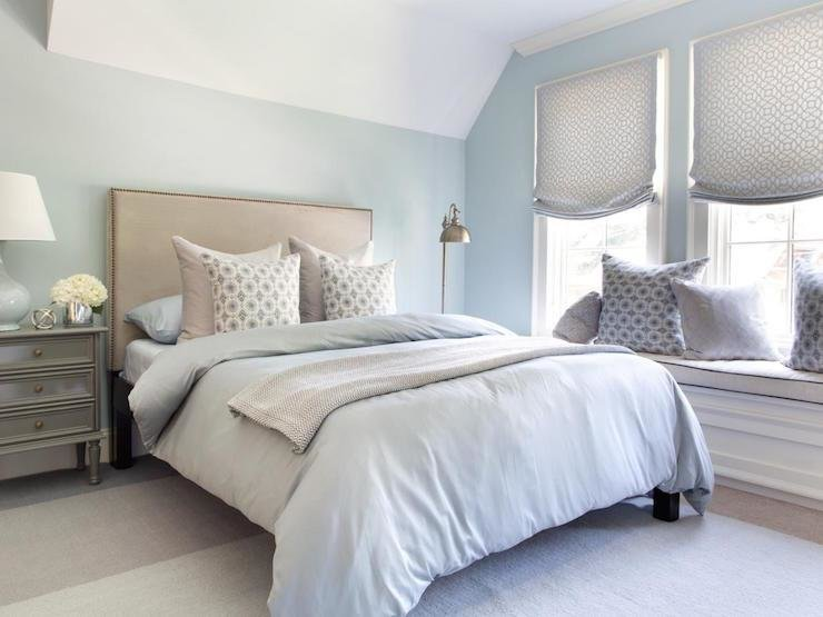 Best Blue And Gray Bedrooms Transitional Bedroom With Pictures
