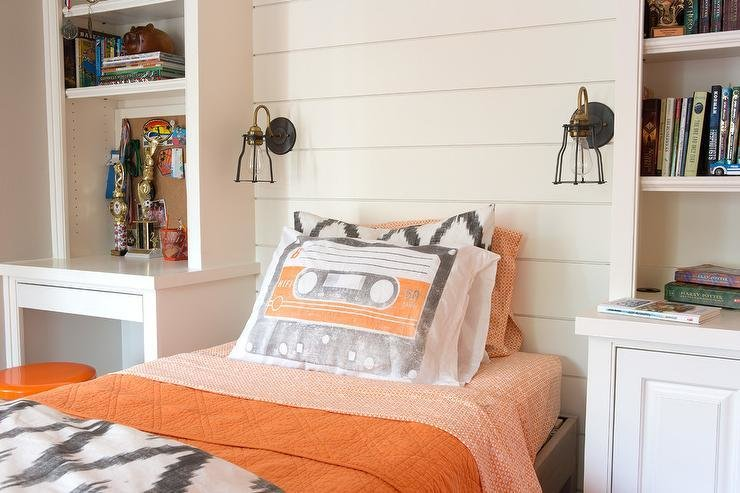 Best Kids Room With Built In Desk Next To Bed Contemporary With Pictures