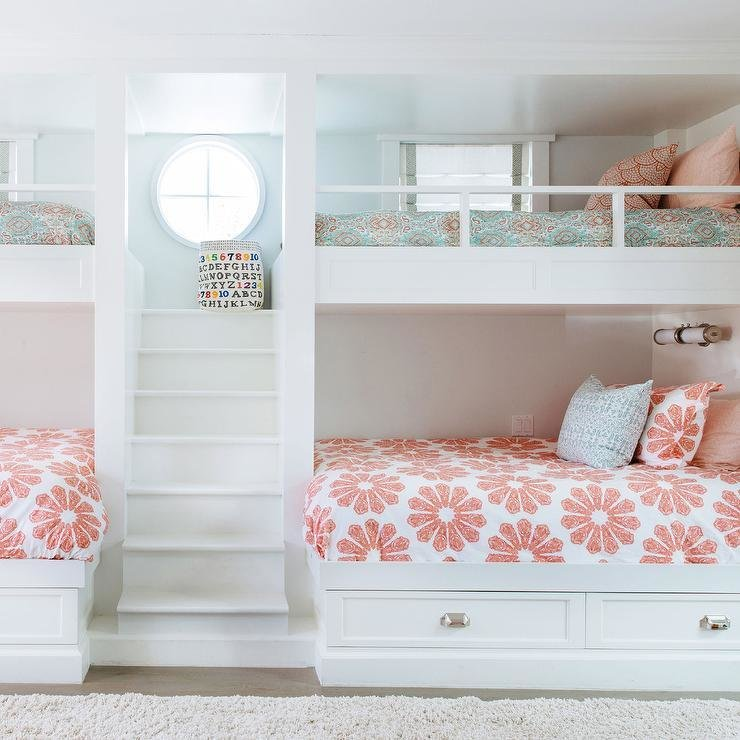 Best Girls Bunk Beds With Built In Staircase Transitional With Pictures