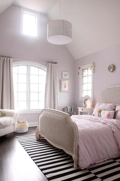 Best Pink Girls Bedroom With Ikea Stockholm Rug Transitional Girl S Room With Pictures