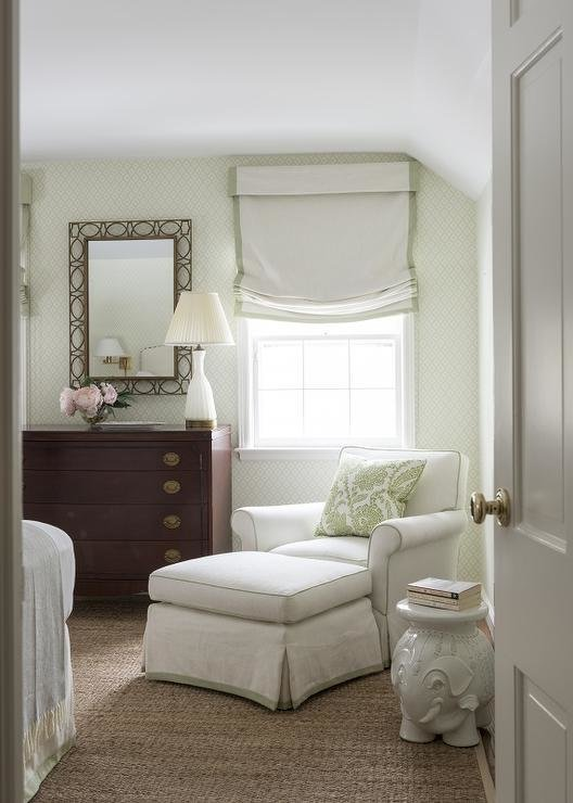 Best Green Bedroom With Tray Ceiling Transitional Bedroom With Pictures