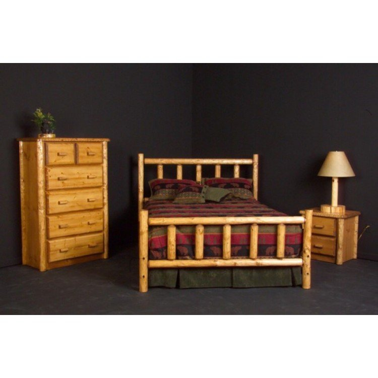 Best Rustic Pine Log Bed With Pictures