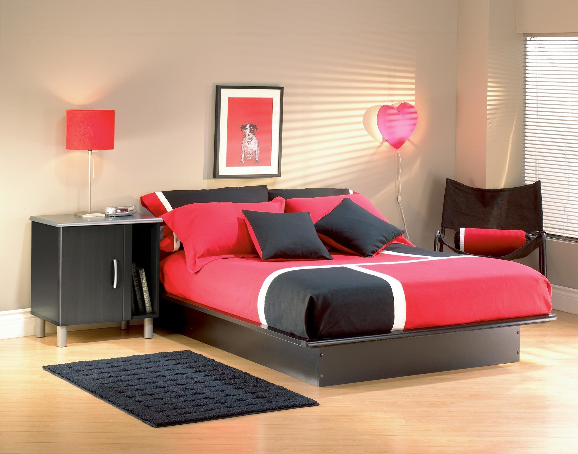 Best Step One Full Platform Bed With Night Stand 375 99 With Pictures
