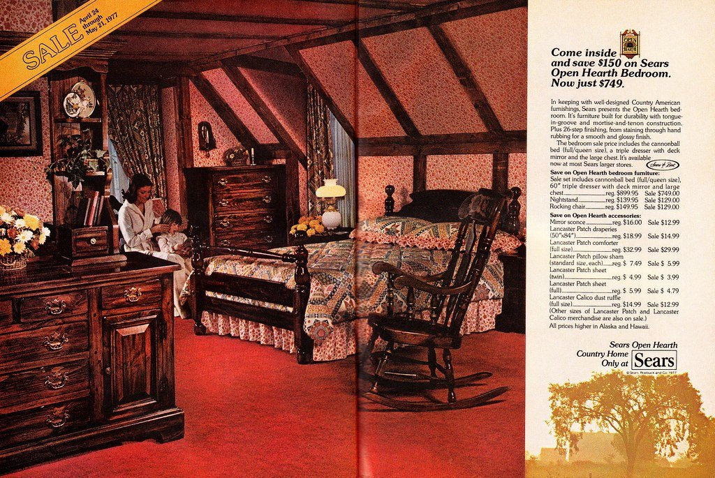 Best 1977 Ad Sears Open Hearth Bedroom Furniture Set Mother W With Pictures