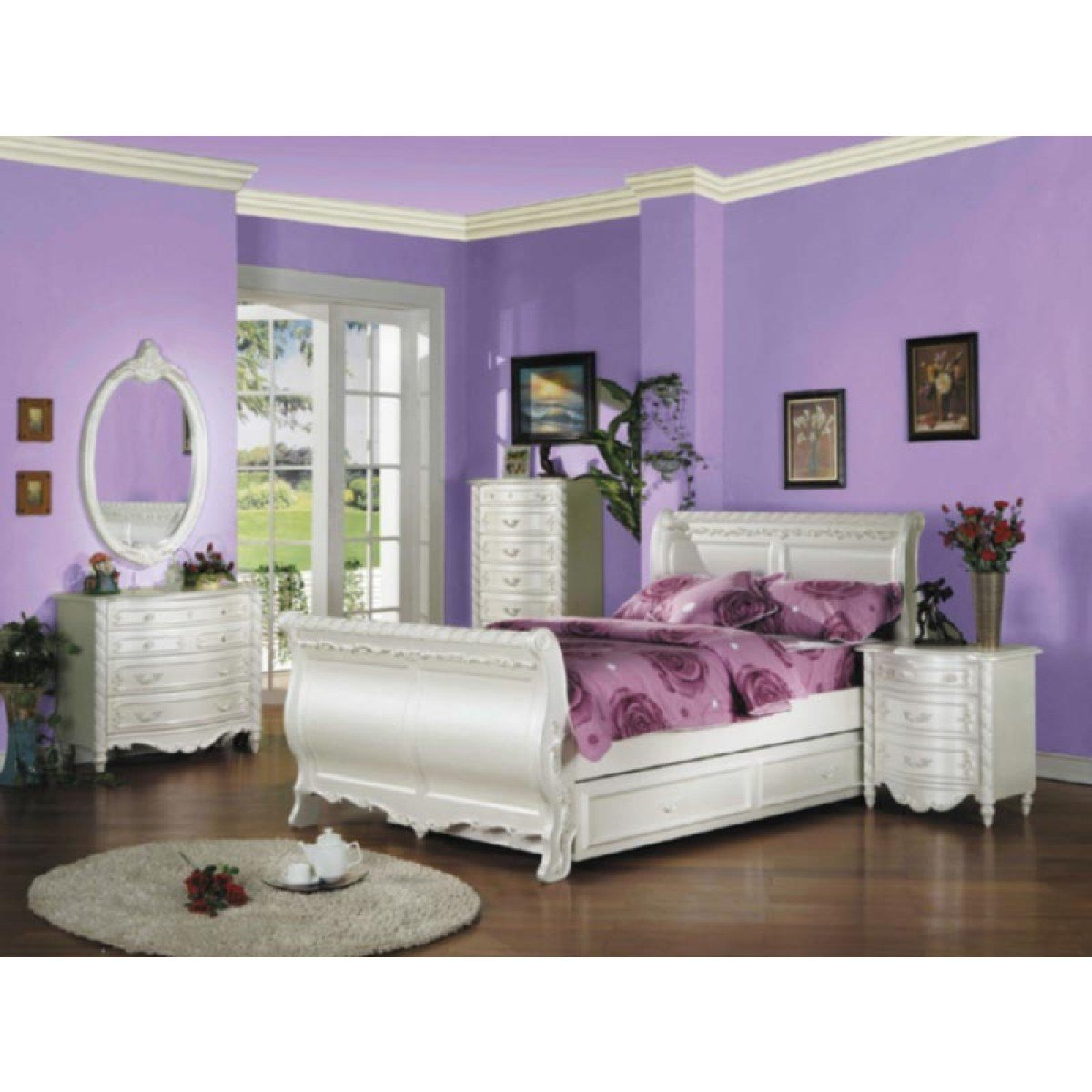 Best Acme Furniture 5 Piece Bedroom Full Size Sleigh Bed Set With Pictures