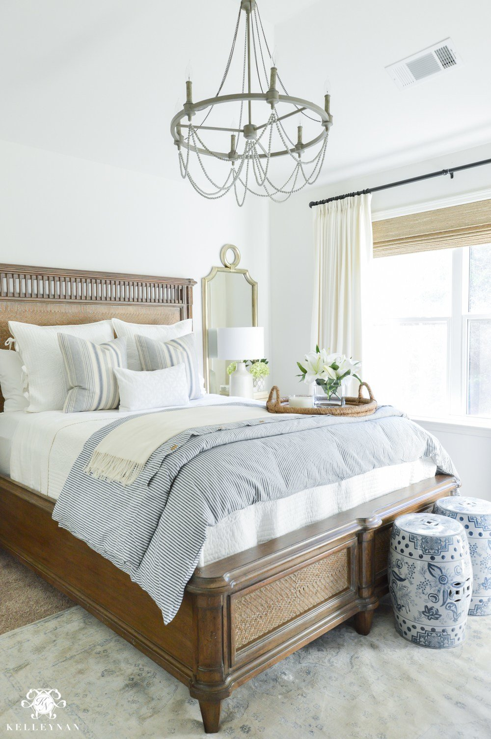 Best One Room Challenge Classic Blue And White Guest Bedroom With Pictures
