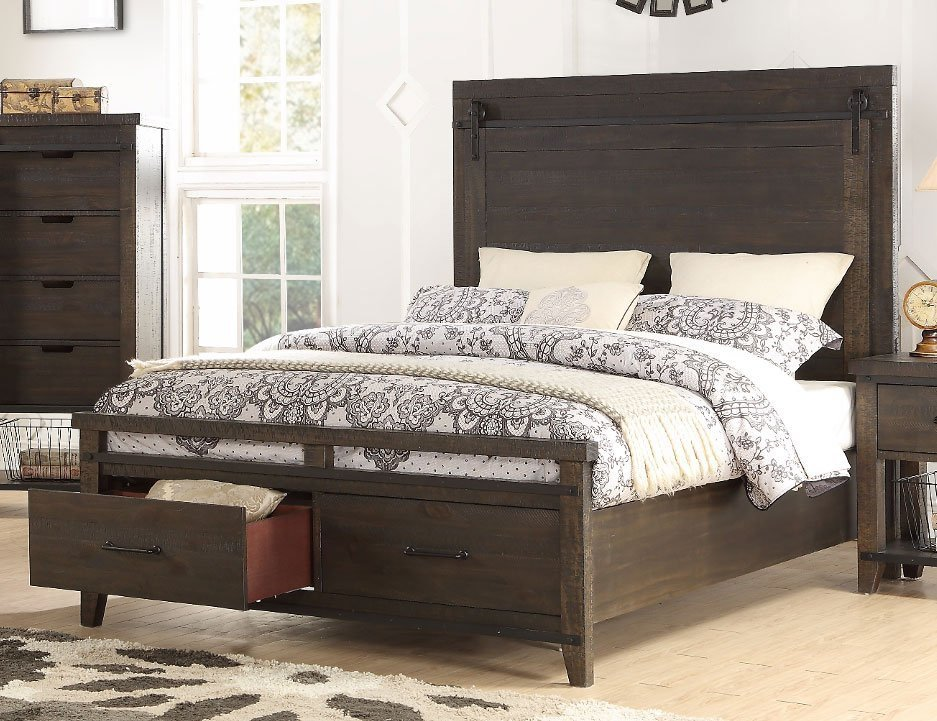Best Rustic Contemporary Brown 6 Piece Queen Bedroom Set Montana Rc Willey Furniture Store With Pictures