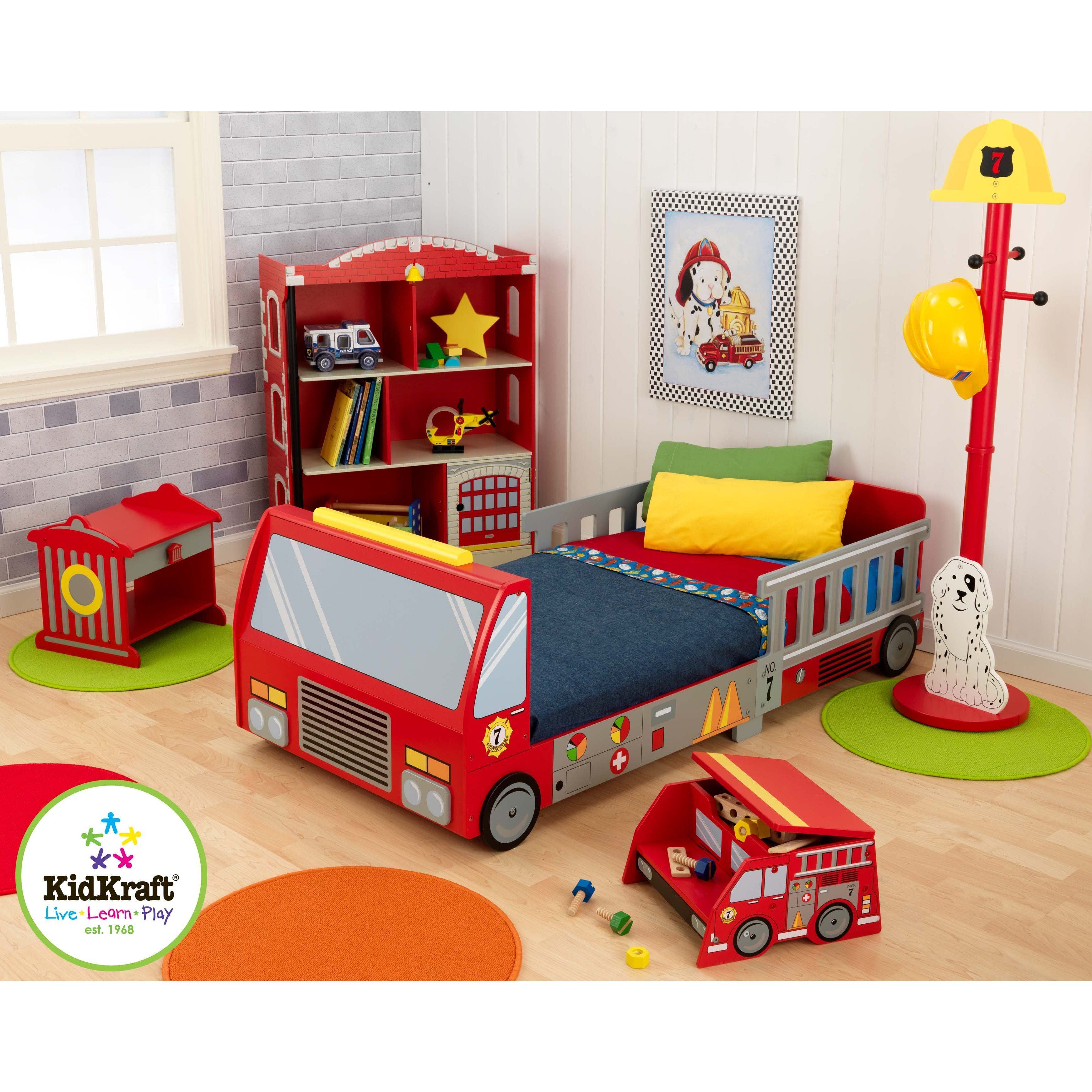 Best Kidkraft Firefighter Toddler Car Customizable Bedroom Set With Pictures
