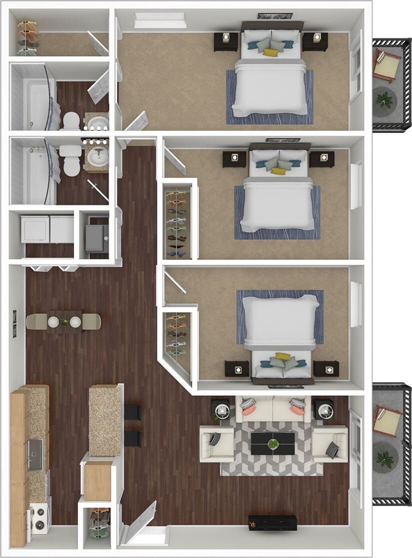 Best Silvertree Communities 2 3 Bedroom Apartments Near With Pictures