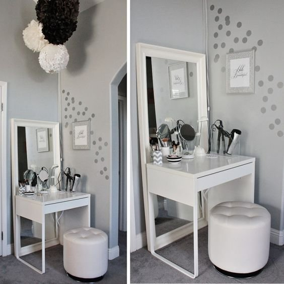 Best Gray And White Color Scheme Simple Corner Vanity Home With Pictures