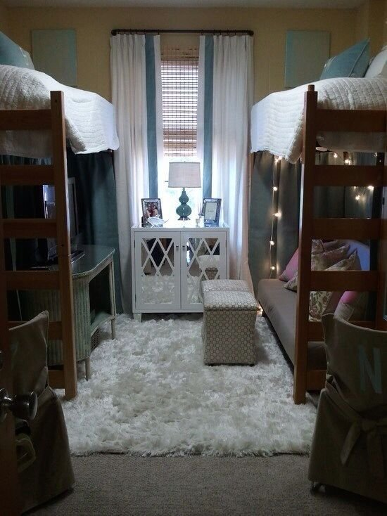 Best Seven Ways To Make Your Dorm Room Seem Bigger Cute Dorm With Pictures