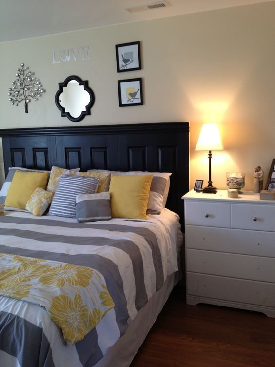 Best Grey And Yellow Master Bedroom I Actually Like The With Pictures