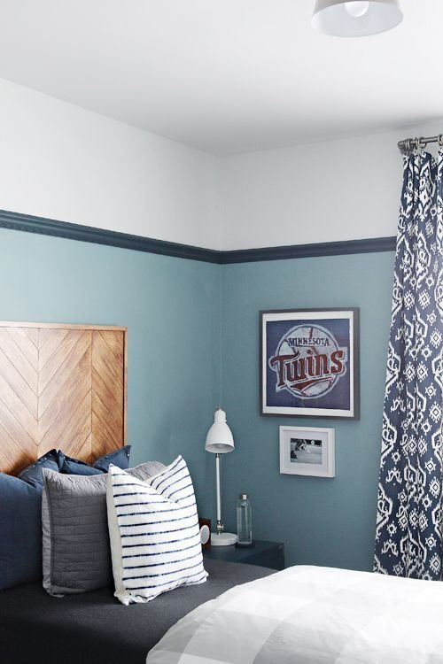 Best Iheart Organizing Our T**N Boy S Bedroom I Love The Color Ralph Lauren S Adelaide Blue With Pictures