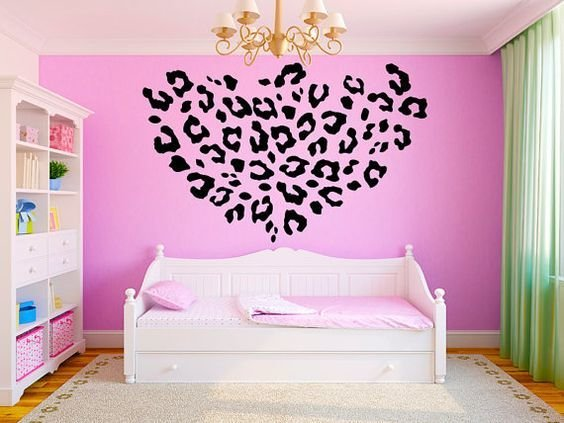 Best Leopard Print Girls T**N Room Vinyl Wall Decal Graphics 22 With Pictures