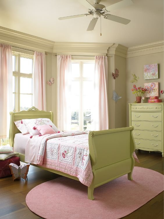 Best Pretty Pink And Green Butterfly Room For A Little Girl With Pictures