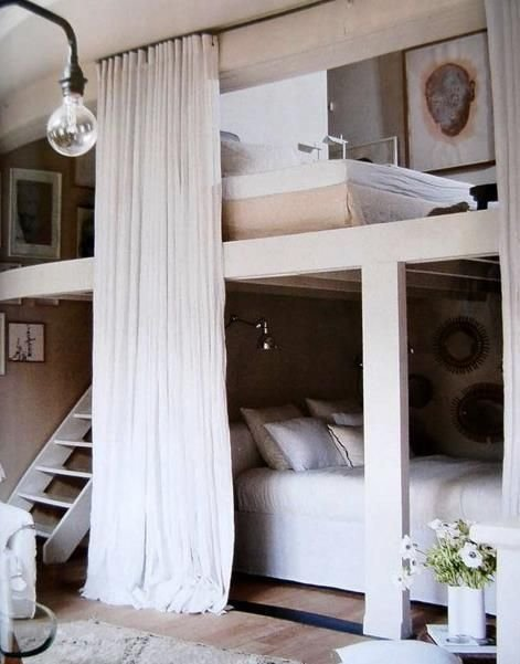 Best Cool Bed Love The Privacy Guest Room Bunk Beds With With Pictures