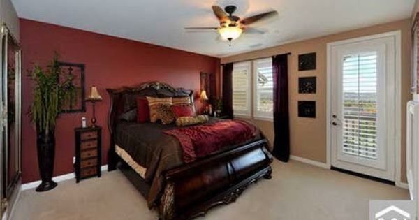 Best Red Accent Wall Bedroom Red Wall Master Bedroom With Pictures