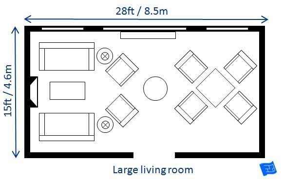 Best A List Of Small Medium And Large Living Room Size With Pictures