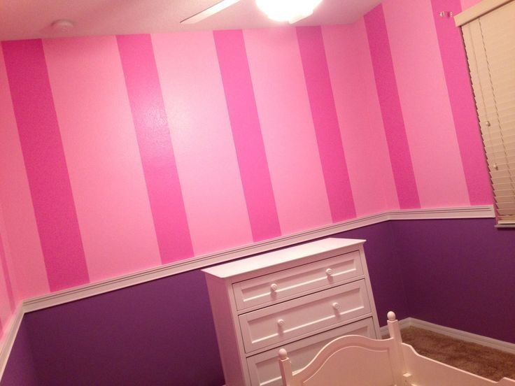 Best Pink Stripes W Purple Walls Girls Bedroom Pinterest With Pictures