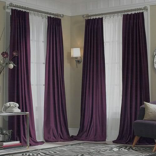 Best New Jcpenney Supreme Midnight Purple Pinch Pleated With Pictures