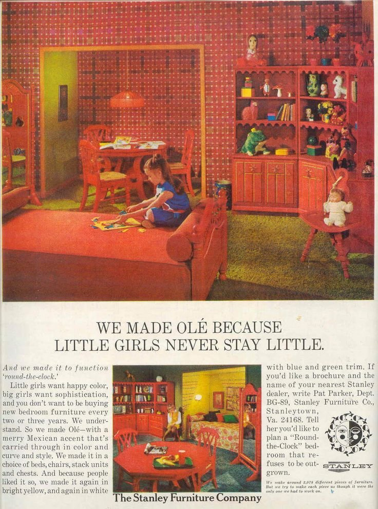 Best Ole By Stanley Furniture Retro Vintage Little Girls With Pictures