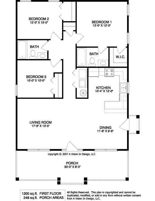 Best 1950 S Three Bedroom Ranch Floor Plans Small Ranch House With Pictures