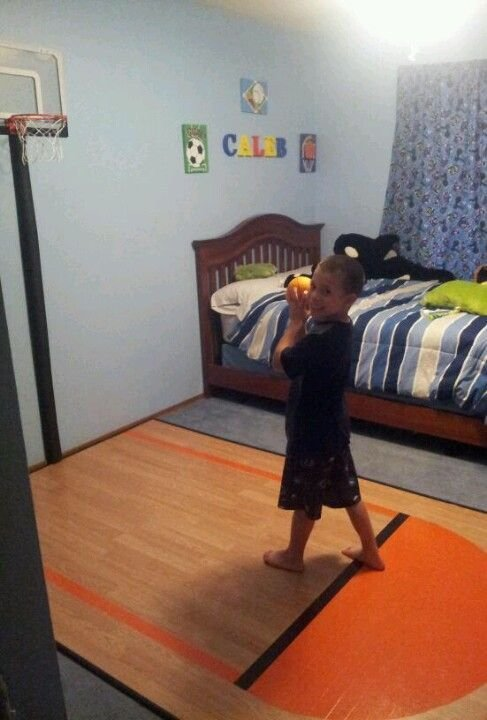 Best Homemade Mini Basketball Court Made From Left Over With Pictures