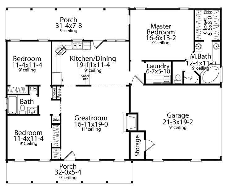Best Home Plans Homepw17856 1 492 Square Feet 3 Bedroom 2 With Pictures
