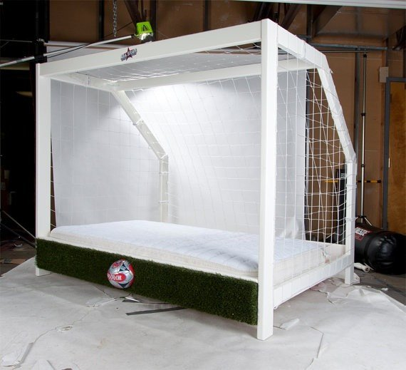 Best Soccer Goal Twin Bed Sports Themed Furniture Really Cool With Pictures