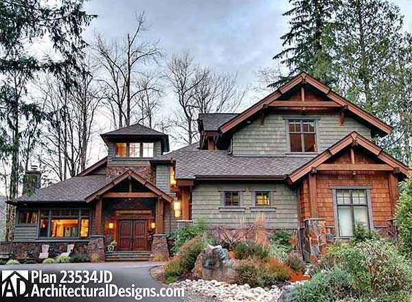 Best Plan 23534Jd 4 Bedroom Rustic Retreat House Plans With Pictures