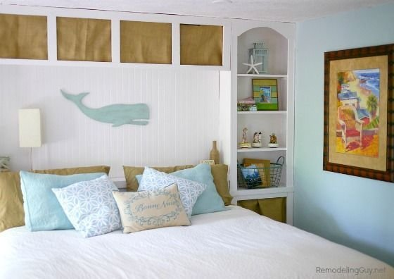 Best Coastal Bedroom Makeover Olympic Paint Woodwork Snowy With Pictures