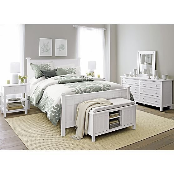 Best Brighton White Bed I Crate And Barrel Bedrooms With Pictures
